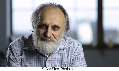 Portrait of cheerful smiling senior man - Portrait of...