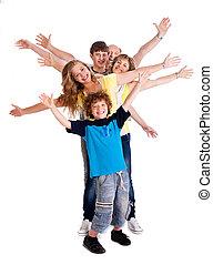 Portrait of cheerful three generation family