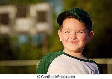 Portrait of child baseball player