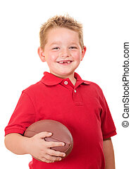 Portrait of child with football