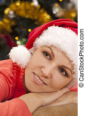 Portrait of christmas woman