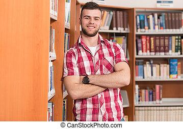 Portrait Of Clever Caucasian Student