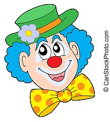 Portrait of clown - isolated illustration.