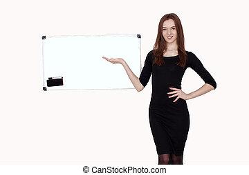 Portrait of coaching woman