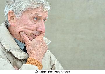 cold senior man