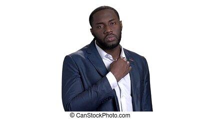 Portrait of confident african businessman.