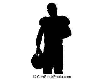 portrait of confident American football players