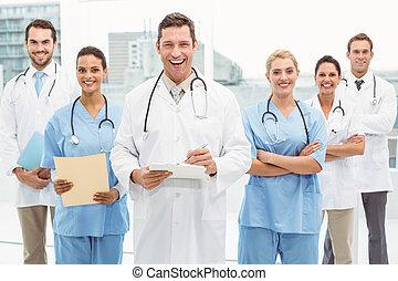 Portrait of confident doctors with