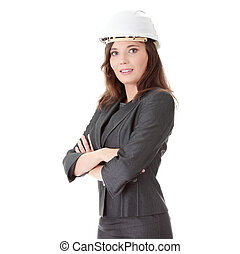 Portrait of confident female worker