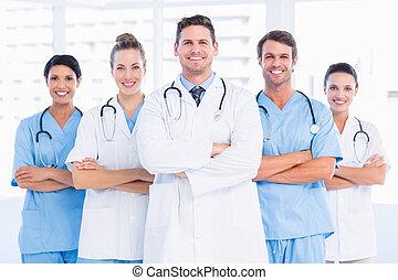 Portrait of confident happy group o