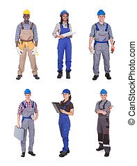 Portrait Of Confident Manual Workers