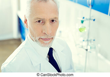 Portrait of confident researcher looking into camera