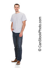Portrait Of Confident Young Man In Casuals