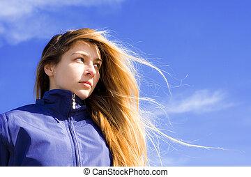 Portrait of confident young woman