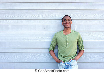 cool african american guy smiling