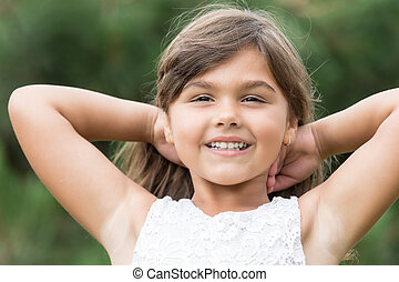Portrait of cool little girl