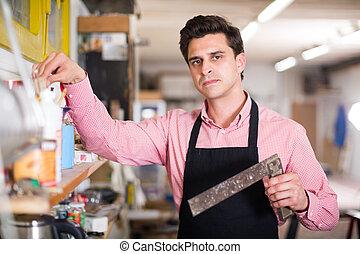 Portrait of craftsman in carpentry