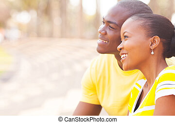 cute african couple dating
