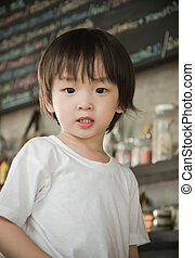 portrait of cute asian boy