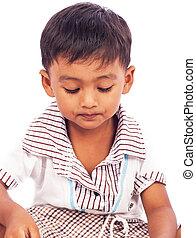 portrait of cute asian boy
