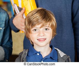 Portrait Of Cute Boy At Cinema