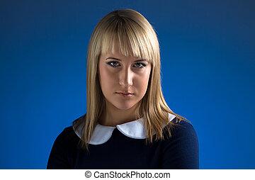 Portrait of cute business woman