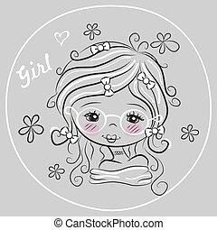 Cute Drawing Girl