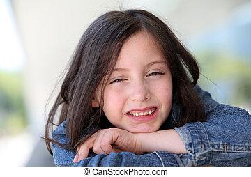 Portrait of cute grade-school girl