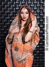 Portrait of cute Indian woman
