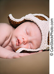 portrait of cute newborn