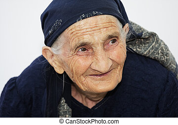 Portrait of cute smiling elderly woman
