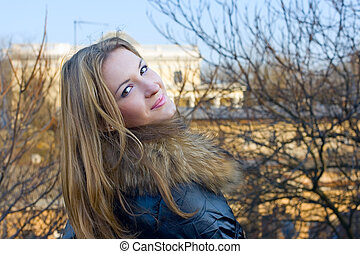 Portrait of cute young girl