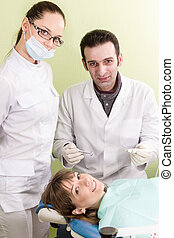 Portrait of dentists and their patients