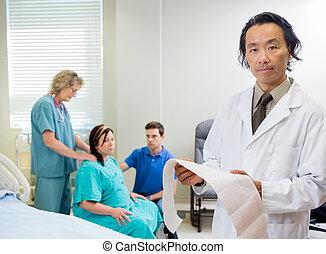 Portrait of Doctor in Maternity Ward