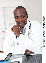 Portrait of doctor in office