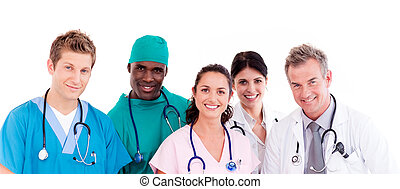Portrait of doctors - Portrait of a group of doctors