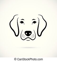 Portrait of Dog. Line art dog icon. Vector illustration.