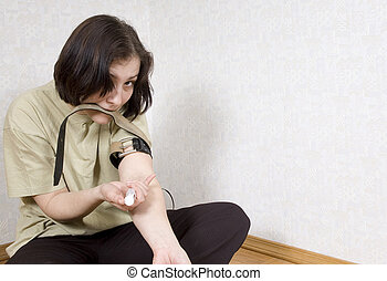 portrait of drug addicted girl