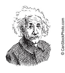 Portrait of Einstein - Hand drawn portrait