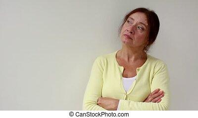 Portrait of elderly hispanic lady