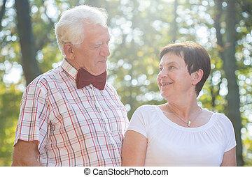 Portrait of elderly loved couple