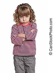 Portrait of emotionally girl - Portrait of emotionally...