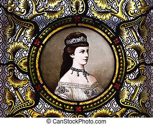 Portrait of empress Elisabeth of Austria - Empress Elisabeth...