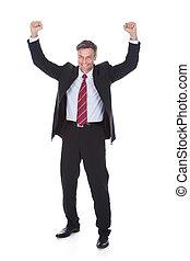 Excited Mature Businessman