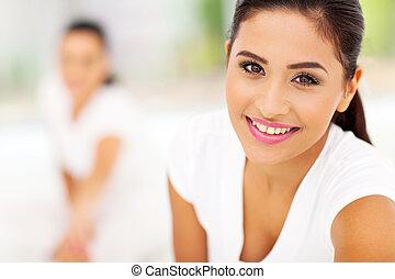 portrait of exercising woman