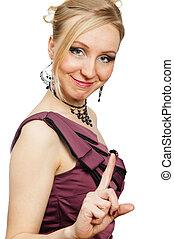 Portrait of expressive female