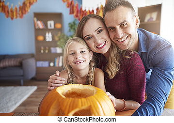 Portrait of family in Halloween