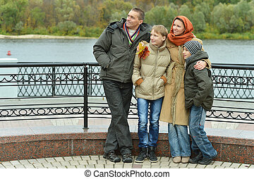 Portrait of family relaxing