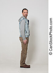 Portrait of fashion dressed man