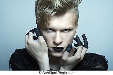 portrait of fashion male model